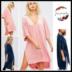 FREE PEOPLE V-NECK TUNIC PULLOVER HI-LO TOP